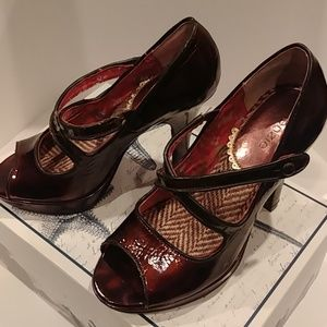 Kenzie Strappy Purple Heels